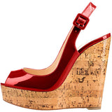 Roman fish mouth wedges women's shoes high-heeled foreign trade women's sandals