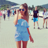 Summer tube top women's dress jumpsuit