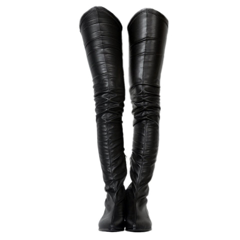 azmodo  Fashion Block Heel Thigh High Boots