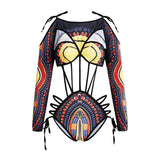 Sexy Bikini Sexy Color Swimwear African National Wind Bandage Print Swimsuit Women