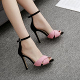 Fashion Ankle Strap Pumps Super High Heels Women Sandals Summer Shoes Women Open Toe Sexy Party Pumps Dress Sandals Ladies Shoes