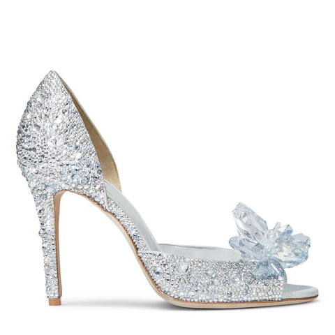 crystal shoes cinderell shoes diamond high Heels Shoes Wedding Female Rhinestone Shoes Toe Peep Stiletto Pumps