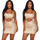 Streetwear Sexy Women Fashion Summer Sleeveless Slim Bandage Bodycon Short Mini Dress Party Cocktail Club Dresses