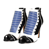 AZMODO Contrast Color Cut-Outs Dress Sandals