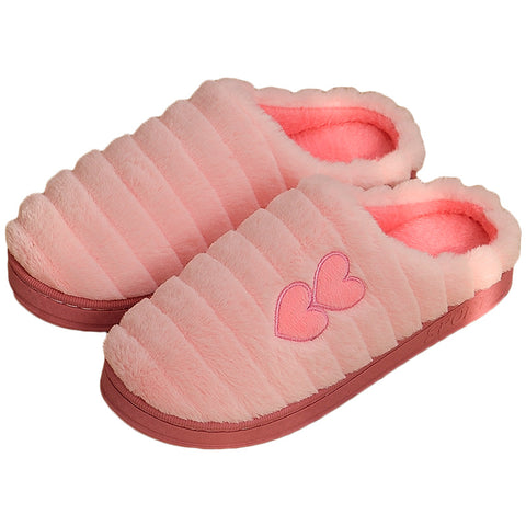 Winter Warm Home Slippers Fashion Plush Cotton Warm Slippers Indoor House Soft Slippers