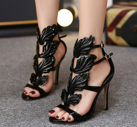 Women Shoes High Buckles Thin Heels Sandals Women Party Shoes ble866-50