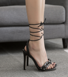 Cross strap sexy high heel sandals Roman style