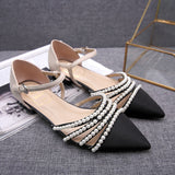 Pearls Pointed Toe Flats