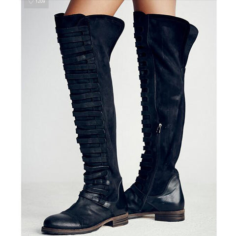 9ee27673b5e ... Fashion Runway Crystal Stretch Fabric Sock Boots Pointy Toe Over-the-Knee  Heel Thigh