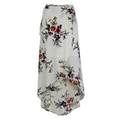 Women's New Products Irregular Split Print Skirt