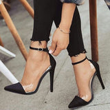 azmodo Buckle Buckle Stiletto Heels Banquet Prom Shoes