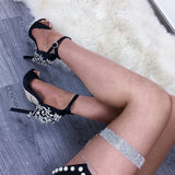 Rhinestone Stiletto Heel Sandals