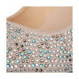 azmodo Hot Luxurious Rhinestone Platform Stiletto Heels