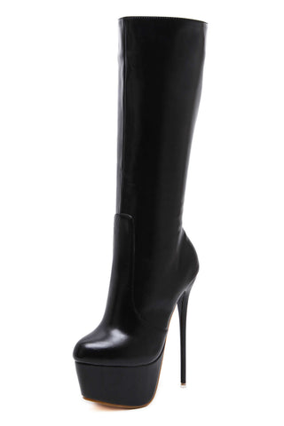 Women Sexy PU Stiletto 16CM Heel Thigh Platform High Boot 2589