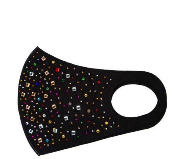 Multi shape rhinestone fashion mask