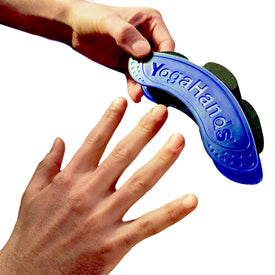 Putting on Yoga Hands wrist and hand exerciser