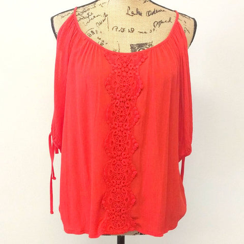 Summer Sunset Peasant Top