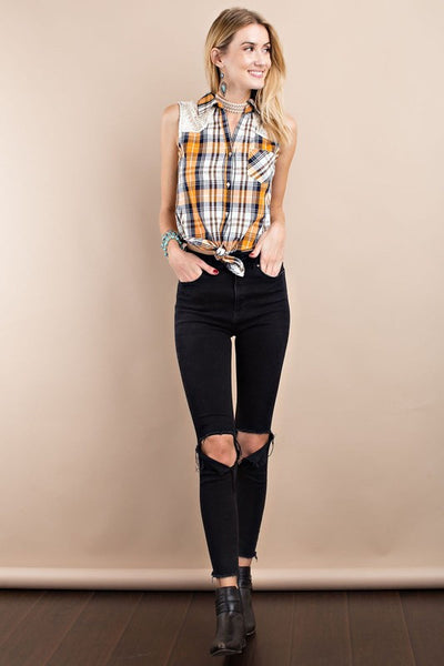 Sweet Nashville Plaid Top