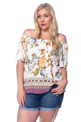 Sonia Off the Shoulder Top - Curvy Plus