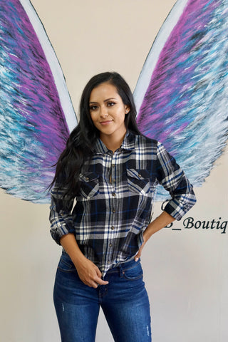 Skylar Flannel Top