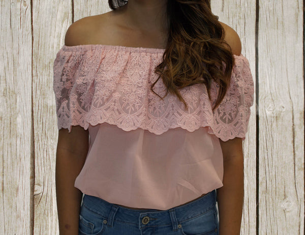 Melanie Off-shoulder cropped top