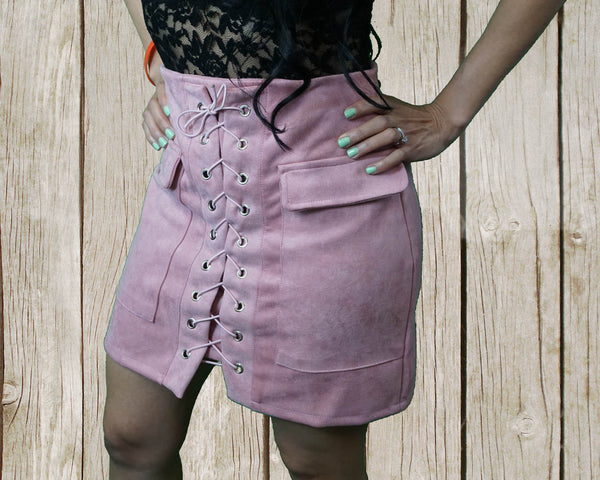 Alicia Suede Skirt