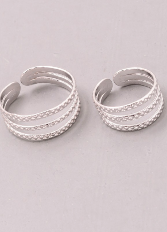 Textured Cut Out Ring Set
