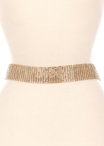 Rhinestone chain belt