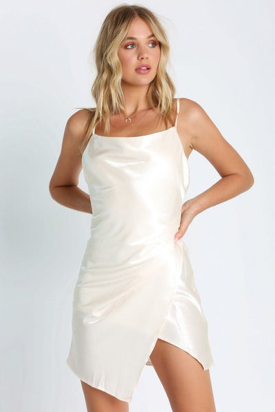 New Beginnings Satin Dress