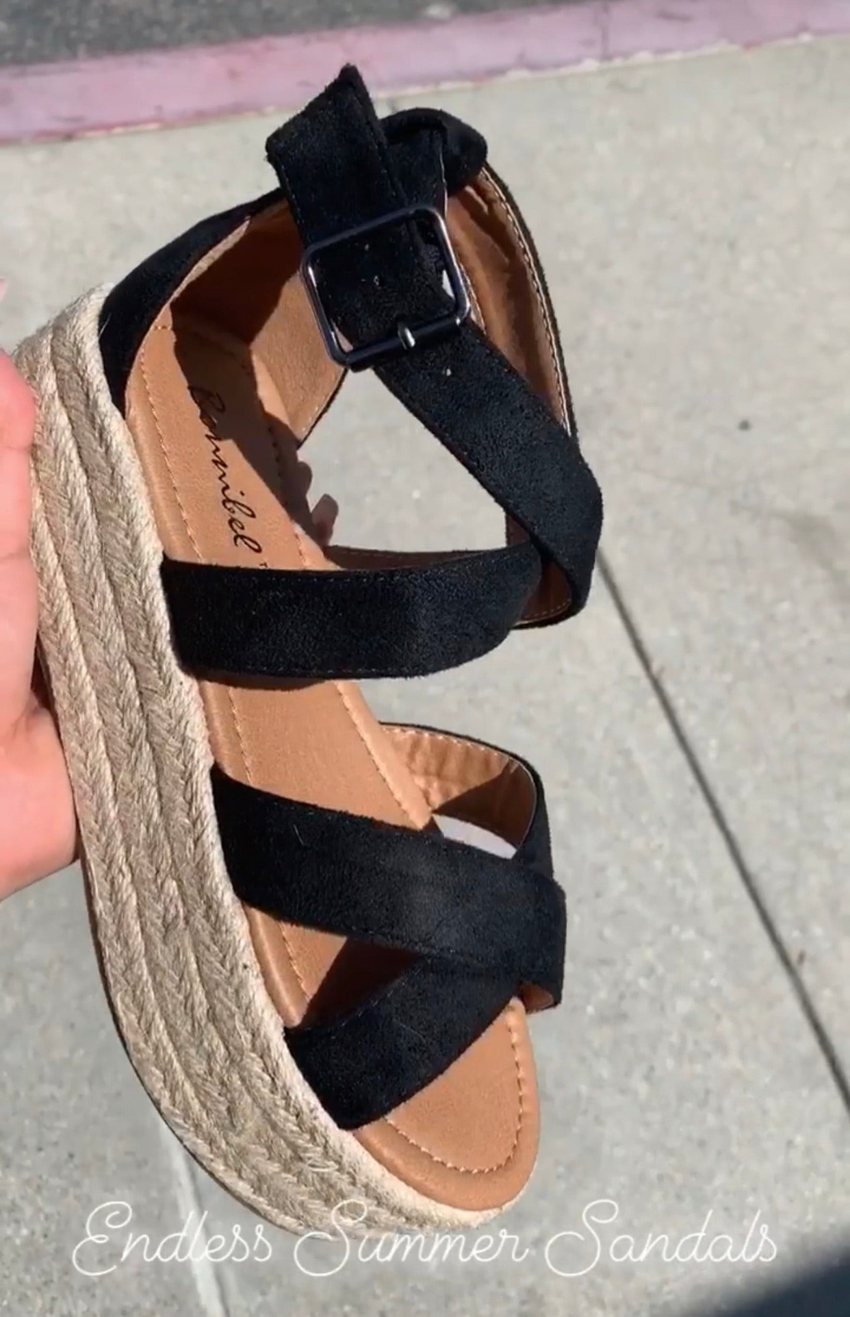 Endless Summer Sandals (Black)