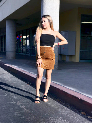 Chels Suede skirt