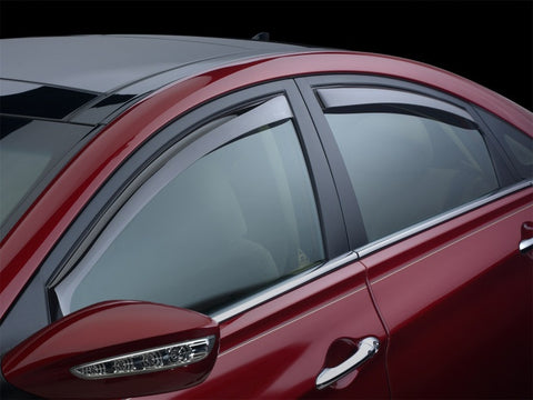 WeatherTech 12+ Ford Focus Front and Rear Side Window Deflectors - Dark Smoke 82573