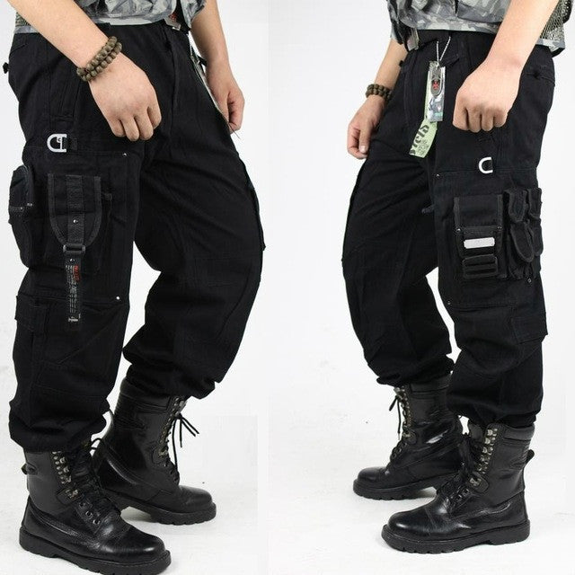 CARGO PANTS  Men's Military Pants Black