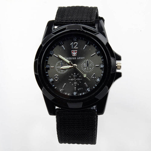 Military Quartz Sport Watch Canvas Strap
