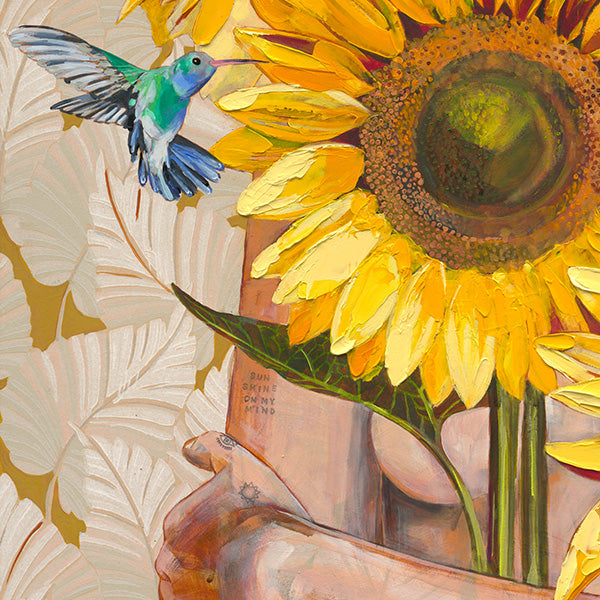 jessica-watts-fine-art-print-flower-sunflowers-hummingbird