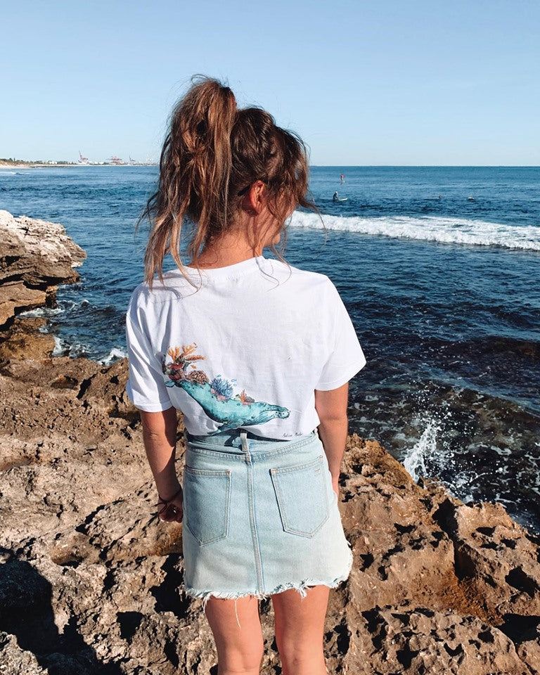 REEF GUARDIAN by Madison Mueller - WHITE ORGANIC T-SHIRT