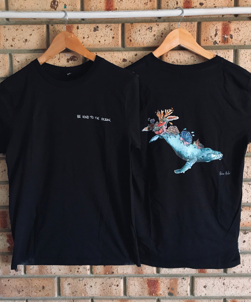 REEF GUARDIAN by Madison Mueller - BLACK ORGANIC T-SHIRT
