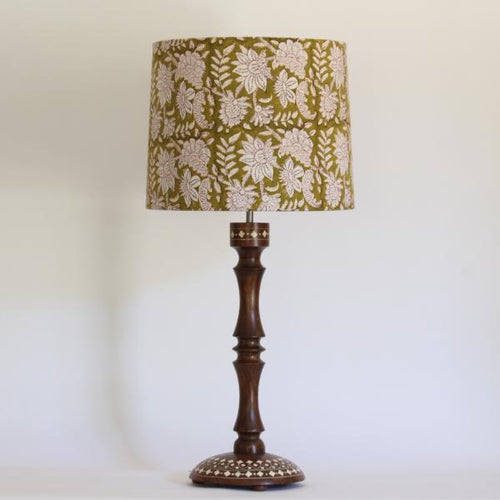 Bone Inlay Lamp Base