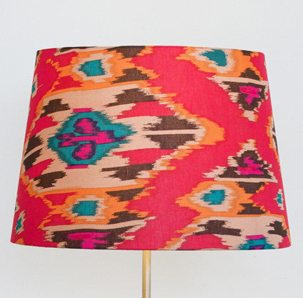 Red Ikat Tapered Shade