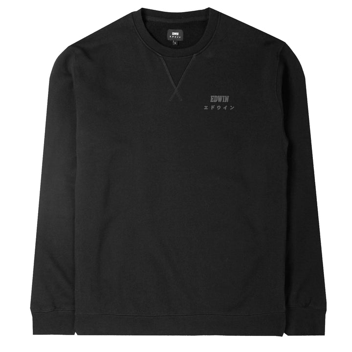 Edwin Base Crew Black - Pict Clothing