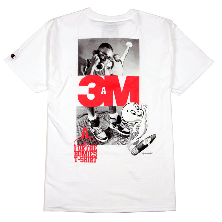 For The Homies Up In Smoke Tee White - Pict Clothing
