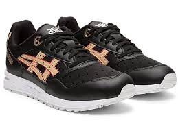 Asics  Womens Gel Saga Black/Frosted Almond - Pict Clothing