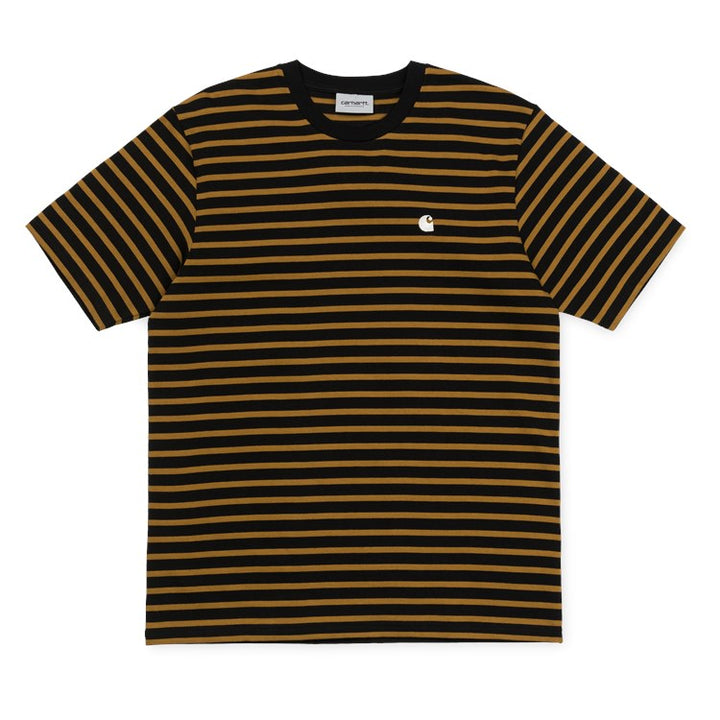 Carhartt SS Robie Tee Black/Hamilton Brown - Pict Clothing