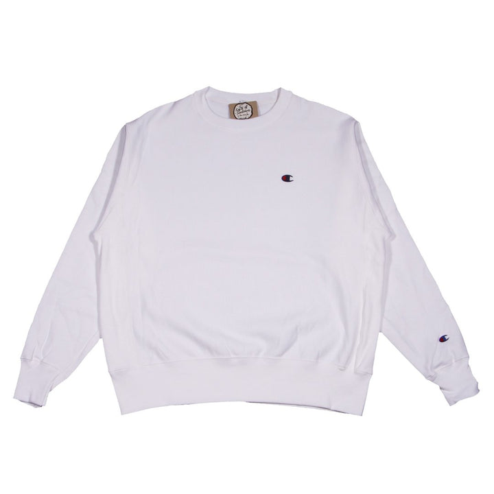 Champion W Reverse Weave Crew White - Pict Clothing
