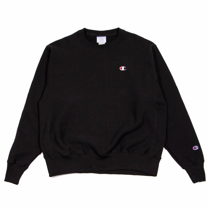 Champion W Reverse Weave Crew Black - Pict Clothing
