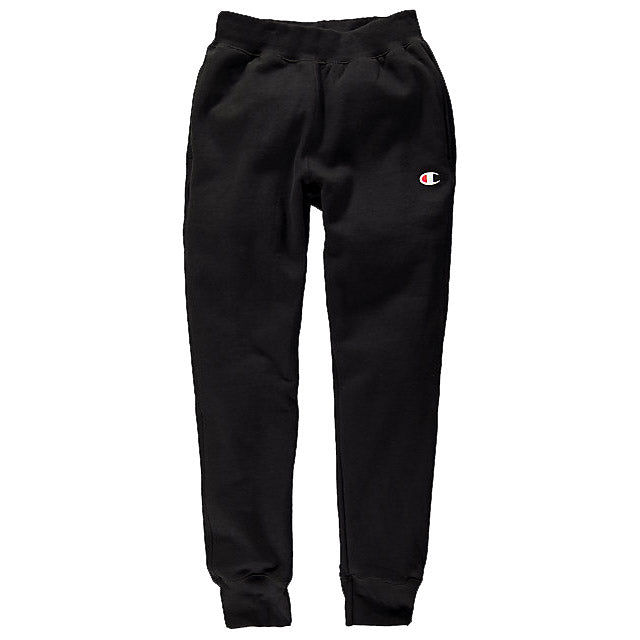 Champion Reverse Weave Trim Jogger Black - Pict Clothing