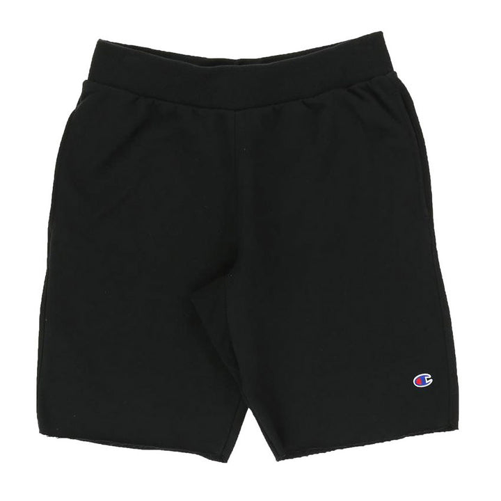 Champion Reverse Weave Cut Off Shorts Black - Pict Clothing