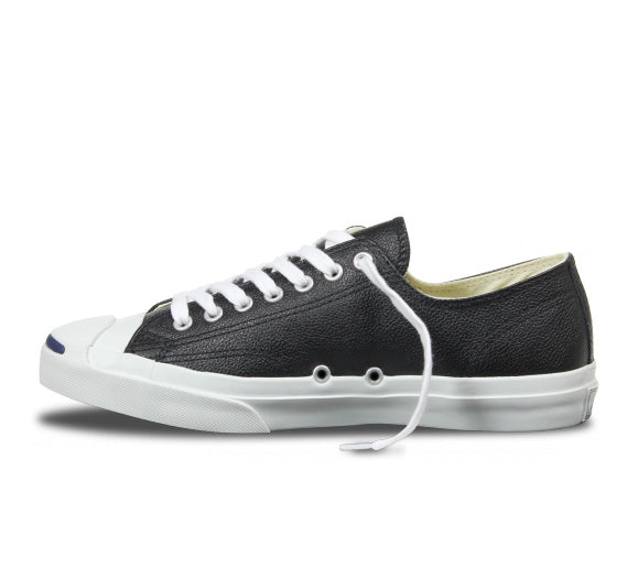 Converse  Jack Purcell Leather Low Top Black - Pict Clothing