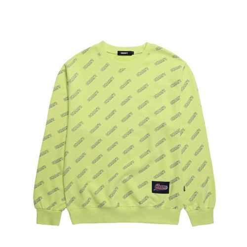 Charms Logo Pattern Sweater Yellow Green - Pict Clothing
