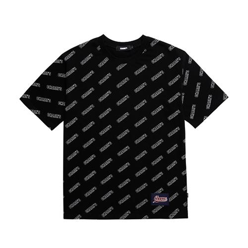 Charms Logo Pattern Tee Black - Pict Clothing